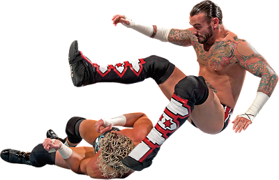 CM Punk Leg Drop Wall Decal