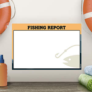 Dry Erase Fishing Report  Fathead Decal