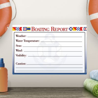 Dry Erase Boating Report
