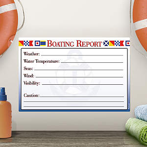 Dry Erase Boating Report  Fathead Decal