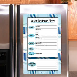 Dry Erase House Sitter Notes - Blue Fathead Decal