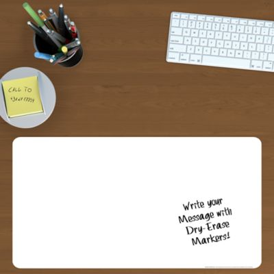 Dry Erase Desk Blotter Wall Decal