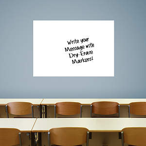 Large White Dry Erase Board by Fathead Fathead Wall Decal
