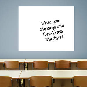 Extra Large White Dry Erase Board by Fathead Fathead Wall Decal