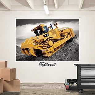 Cat Dozer Mural