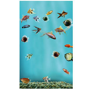 Fish Tank: Mini Fridge Skin