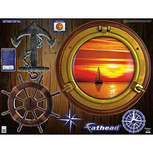 Sunset Sailboat: Porthole