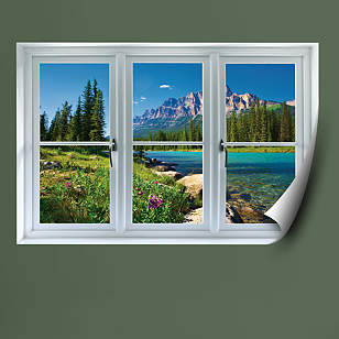 Banff Mountains in Bloom: Instant Window