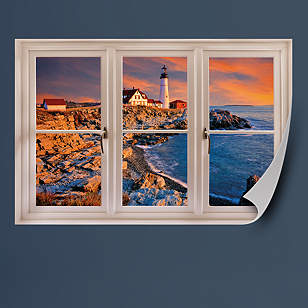 Portland, Maine Lighthouse: Instant Window