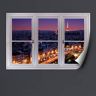 Paris Skyline at Night: Instant Window