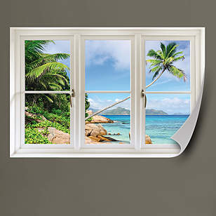 Tropical Beach, Seychelles: Instant Window