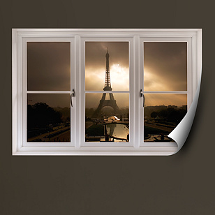Eiffel Tower at Dusk: Instant Window