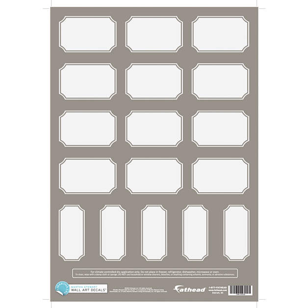Small classic dry erase home labels warm gray decal for Classic house labels