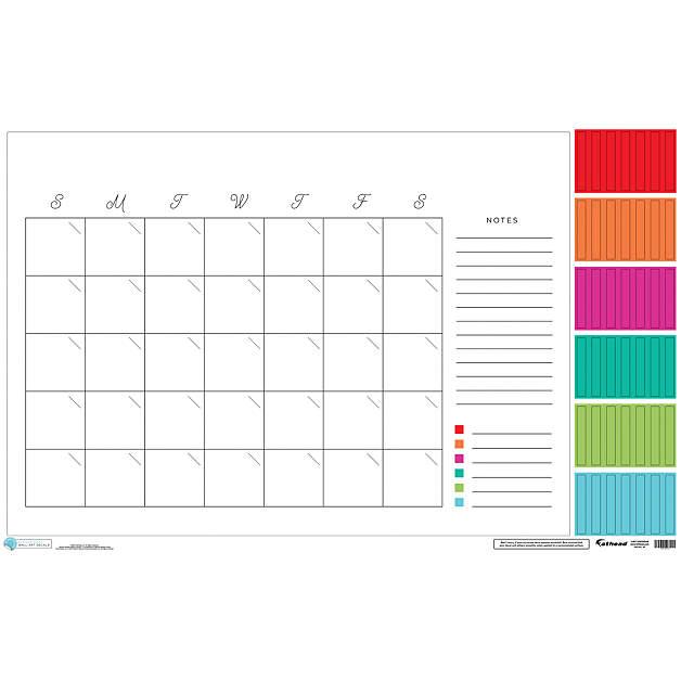Dry Erase Calendar Template : Classic monthly dry erase calendar wall decal shop