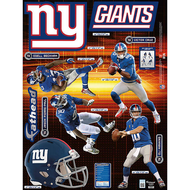 New York Giants Power Pack Wall Decal Set