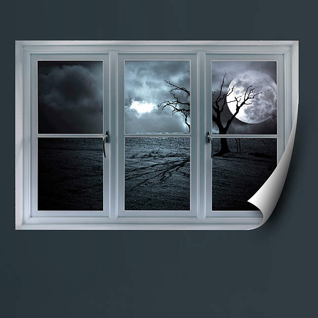 Instant Window Decals : Full moon instant window wall decal shop fathead for
