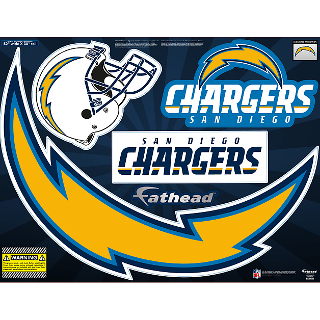 San Diego Chargers Division: San Diego Chargers Street Grip Outdoor Decal