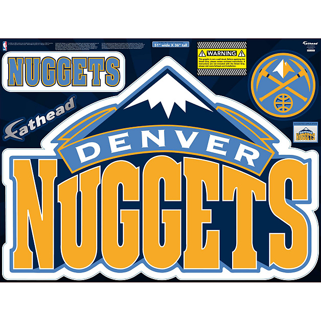 Nuggets X Clippers: Denver Nuggets Street Grip Outdoor Decal