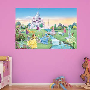 Disney princess collection wall decal shop fathead for for Disney princess mural asda