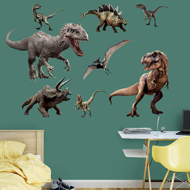 Jurassic World dinosaurs wall decals