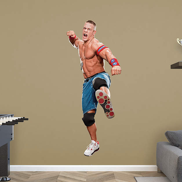 Life-size WWE wall decals