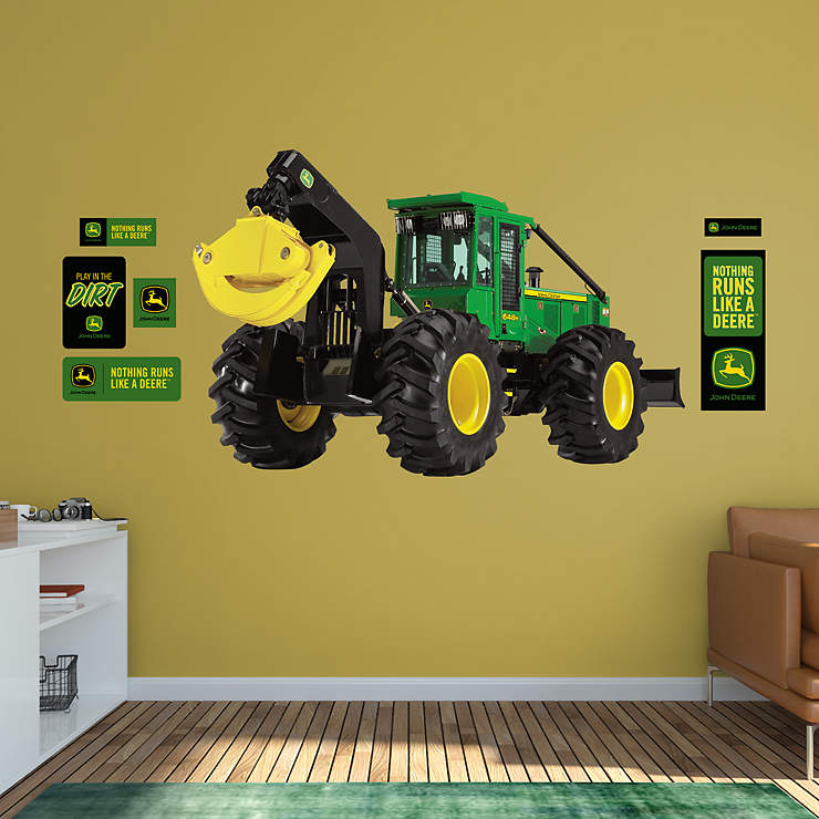 John Deere Wall Decor : John deere h grapple skidder wall decal fathead