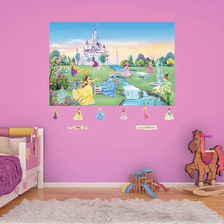 Disney princess mural for Disney princess mini mural