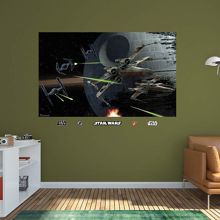 Battle of endor mural wall decal shop fathead for star for Siege mural rabattable