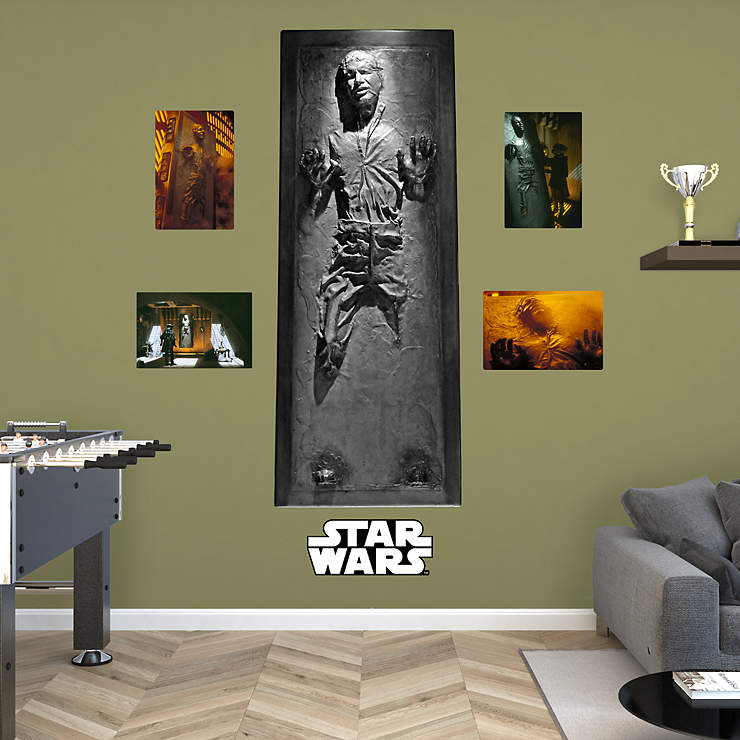 Han solo in carbonite wall decal shop fathead for star wars movies decor - Han solo in carbonite wall art ...