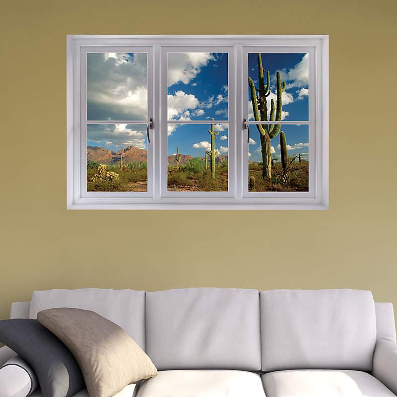 Faux Window Art : A fake window will brighten any room fathead instant