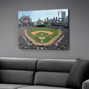 Inside comerica park canvas print shop fathead for for Comerica park wall mural