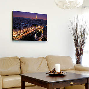 Paris Skyline By Night Canvas