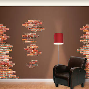 Vertical Brick Wall Accents