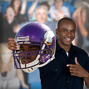 Adrian Peterson Game Day Big Head