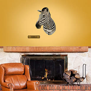 Mounted Zebra Head - Fathead Jr.