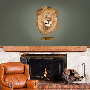 Mounted Lion Head - Fathead Jr.