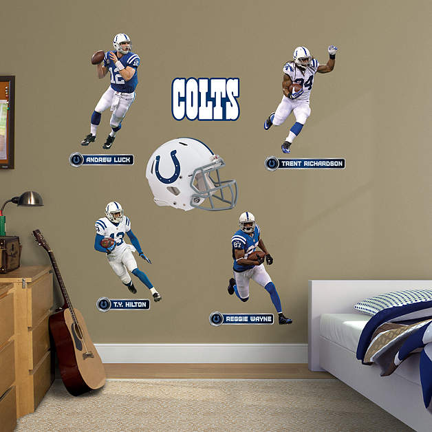Indianapolis colts power pack wall decal set shop for Colts bedroom ideas