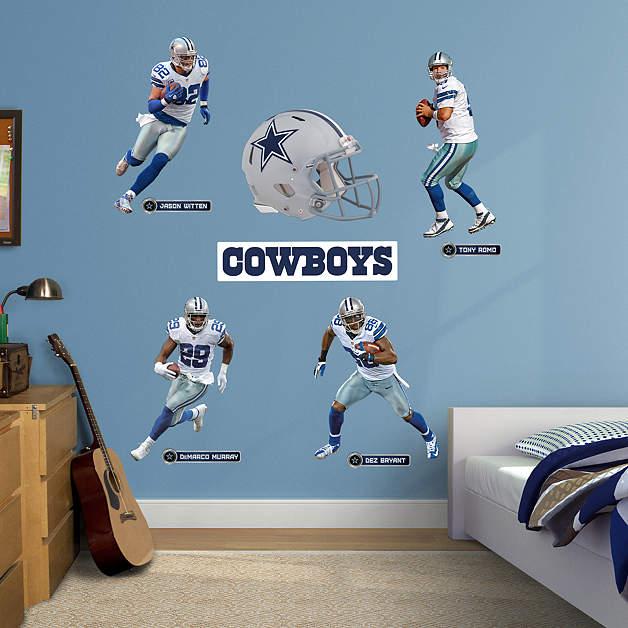 Dallas cowboys power pack wall decal set shop fathead for Dallas cowboys stadium wall mural