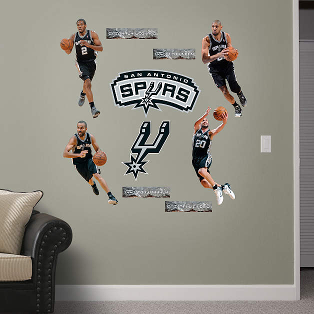 San antonio spurs power pack wall decal set shop fathead for Spurs decorations