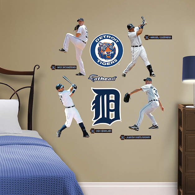 Comerica Wiring Instructions : Detroit tigers power pack wall decal set shop fathead