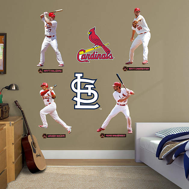 st louis cardinals power pack fathead wall decal. Black Bedroom Furniture Sets. Home Design Ideas