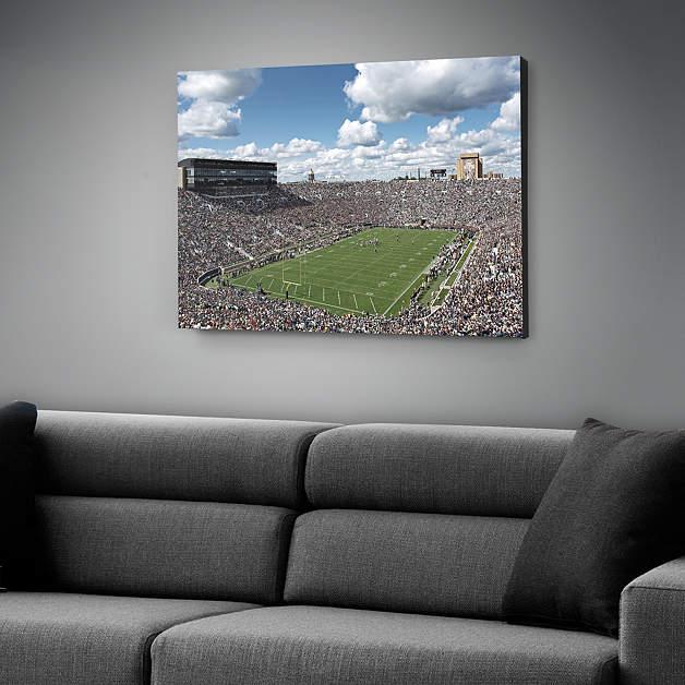 Notre dame stadium canvas for Notre dame home decor