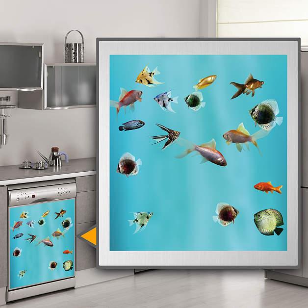 Fish Tank Dishwasher Skin Shop Fathead for Appliance