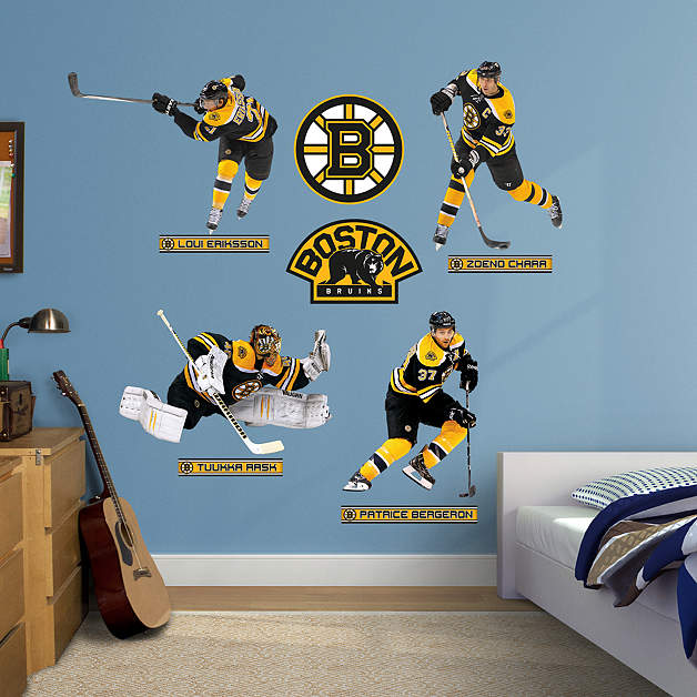 Boston bruins power pack fathead wall decal Bruins room decor