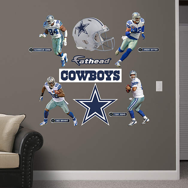 dallas cowboys power pack fathead wall decal short news