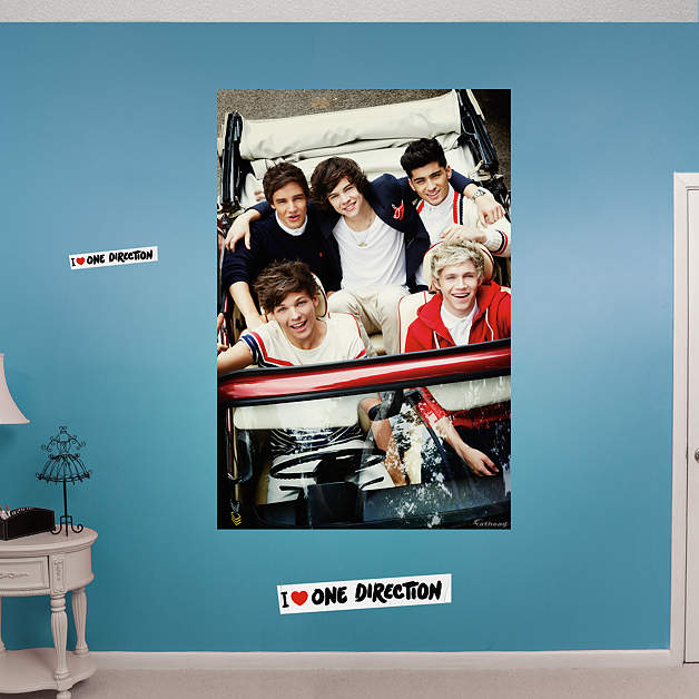 one direction driving mural fathead wall decal. Black Bedroom Furniture Sets. Home Design Ideas
