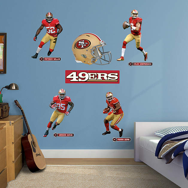 san francisco 49ers power pack wall decal set shop. Black Bedroom Furniture Sets. Home Design Ideas