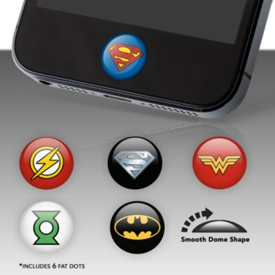 DC Comics Heroes Fat Dots Home Button Decals