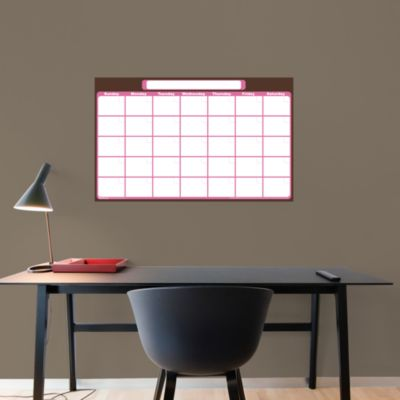 Medium 1-Month Dry Erase Calendar Fathead Wall Decal