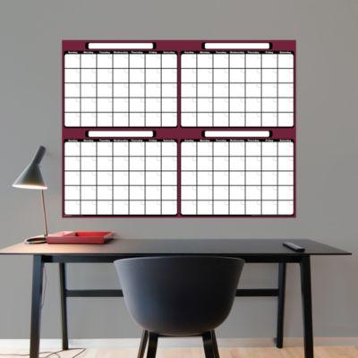 Dry Erase 4-Month Calendar